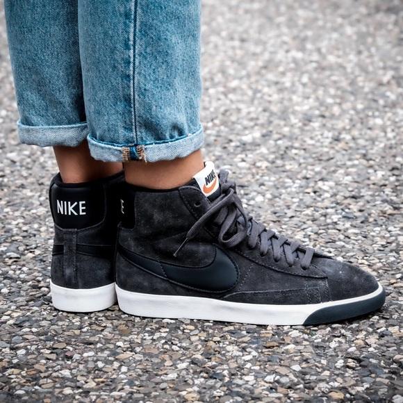 timeless design 2bbd7 ca052 Brand New Nike Blazer Mid Vintage Suede Anthracite